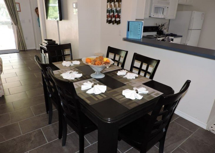Your large dining area
