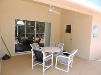 Patio dining in your covered lanai