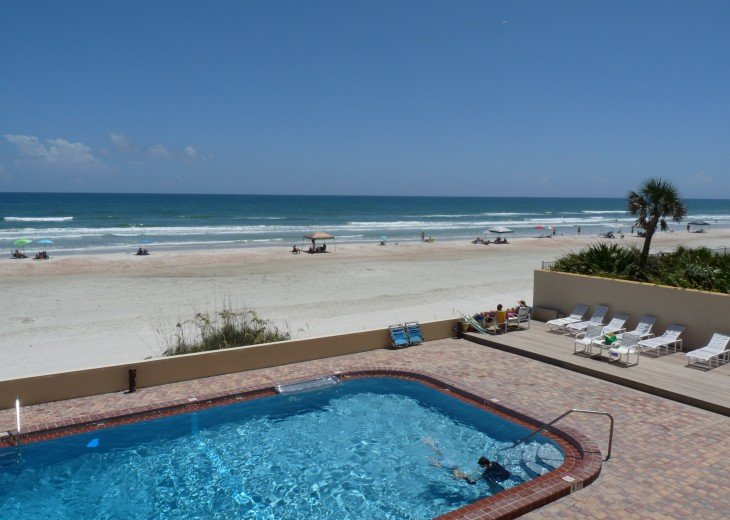 Southward View of No Drive (Vehicle Free) Beach from Beach-side Pool