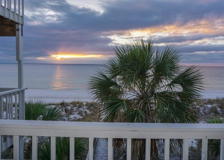 3 Beachfront decks! You can watch the sunset from just @ !