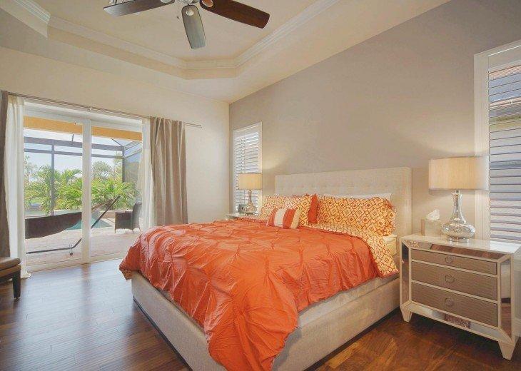 Master bedroom of the dream villa in Cape Coral
