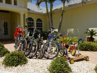 7bikes for your use at the Villa in Cape Coral