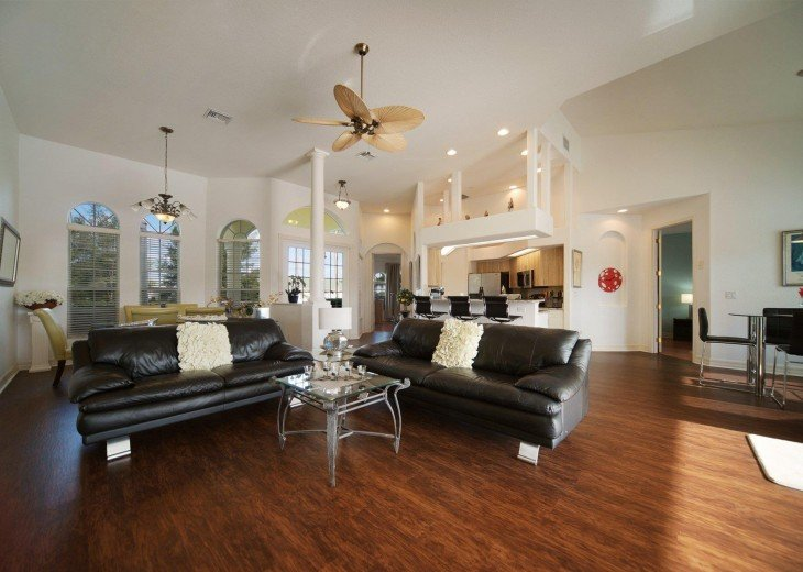living room of the holiday home in Cape Coral, FL