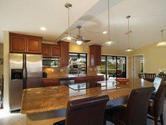 open kitchen of the villa in Cape Coral, Florida