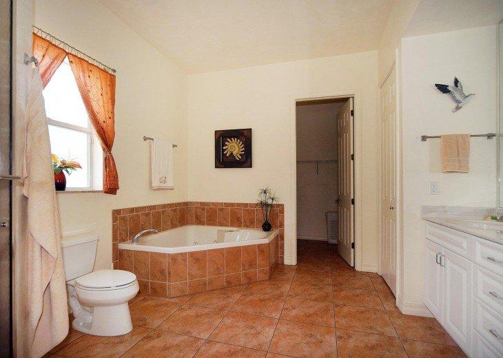 Master bathroom of the villa in Cape Coral, FL