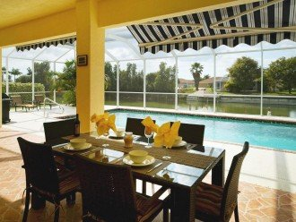 the terrace is the focus of the holiday home
