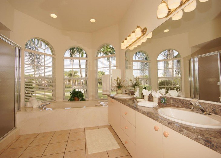 Master bathroom of the villa in Cape Coral, FL