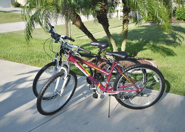 2 bikes for your use at the Villa in Cape Coral