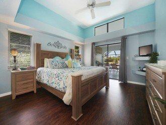 Master bedroom of the dream villa in Cape Coral