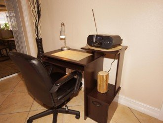 Office corner of the vacation rental in Cape Coral