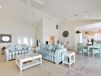 living room of the holiday home on Pine Island, FL