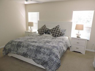Master bedroom with King size bed and ensuite bathroom