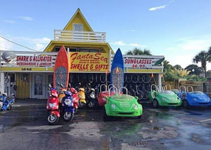 Rent Scooters, Fun Street Cars, & Bikes 1/2 mile West of Surfside Resort