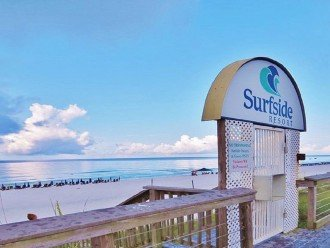 Entrance to Surfside Resort Private Beach