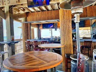 The Inside of the Beach Bar. Come have a Drink and Eat at the Beach Bar