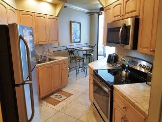 Kitchen has all new apppliance. Fully equipped. Patio Acess