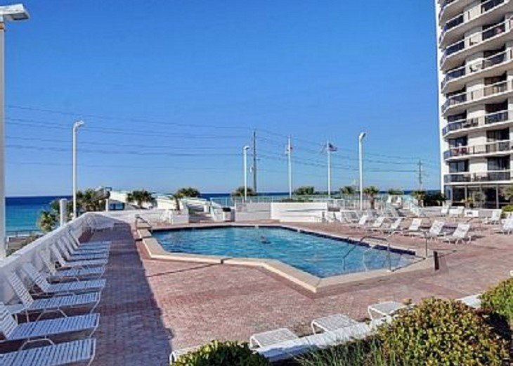 Surfside Resort heated pool on the 1st floor. ENJOY!! We also have a kiddy pooll