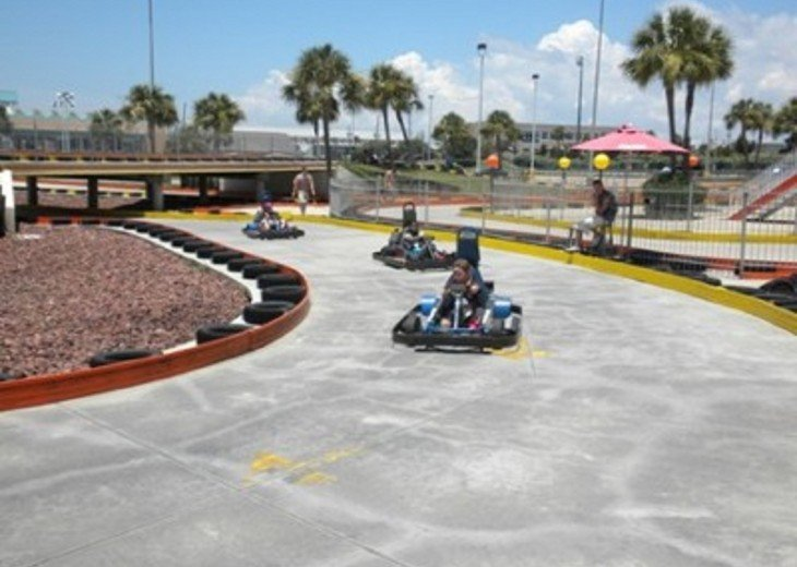 Take the kids to the track. Brochures are available in Surfside Resort Lobbyby