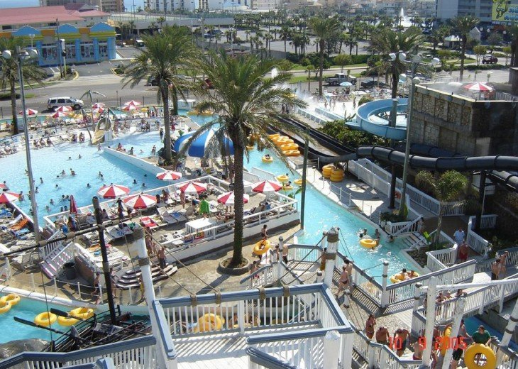 This is anaerial shot of the Big Kahuna Water Park Its so much fun!!