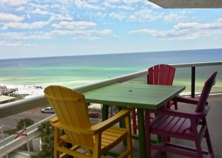Enjoy incredible views of the Gulf of Mexico from your private balcony :)