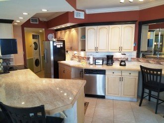 Large fully equipped kitchen with top of the line all stainless stell appliances