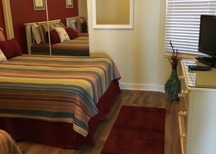 Large closets even in the guest bedroom with plenty of space for everything
