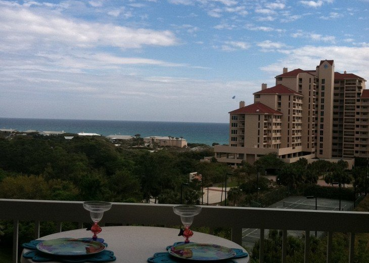 Capture the moment on the balcony with an awesome view of Tops'l and the coast!