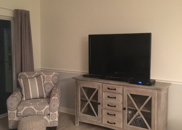 Lots of seating and free video rentals