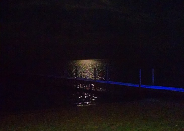 Moonlight over the Gulf; watch the moon set into the water late at night