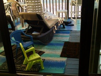 LR beach deck w/grill; propane provided; chaise, table, chairs for adults/kids