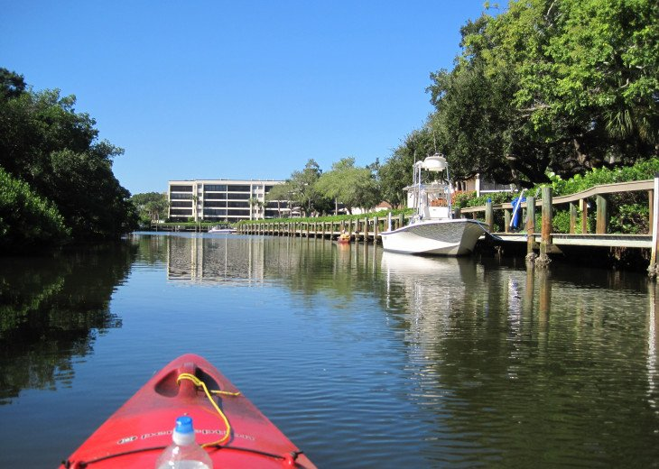 Kayak rental is available in walking distance - start right behind our house