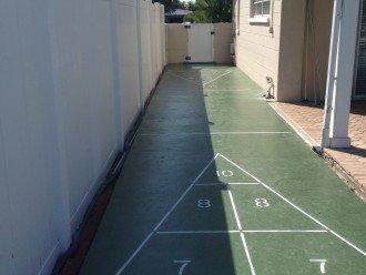 Shuffleboard Court in back yard