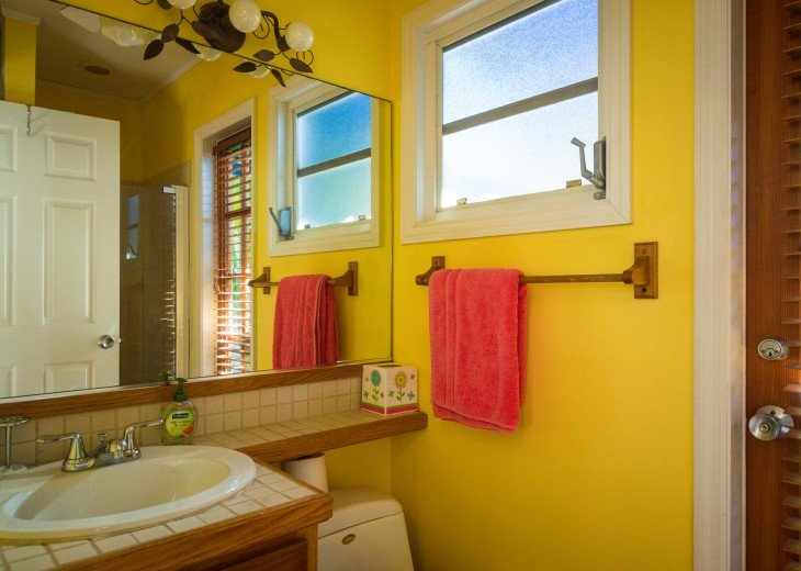 Private bathroom in the guest cottage.