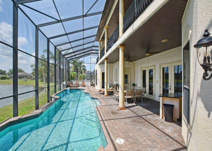 55ft pool infinity pool overlooking the lake