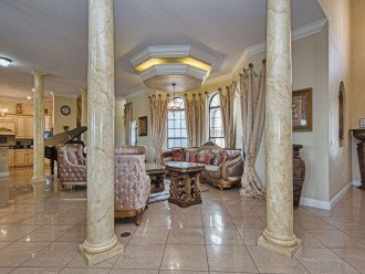 columns, custom lighting & new furniture