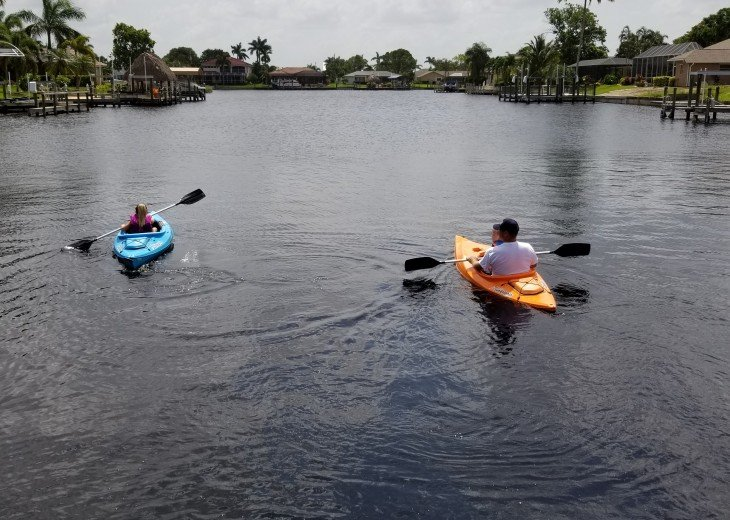 Kayak down the canal