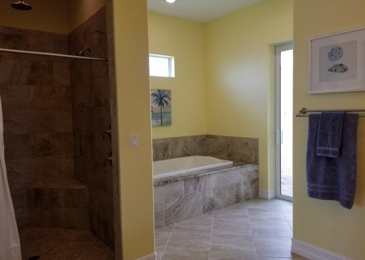 Master bathroom - access to the outdoor shower