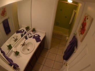 BATHROOM # 1 TUB & SHOWER + VANITIES