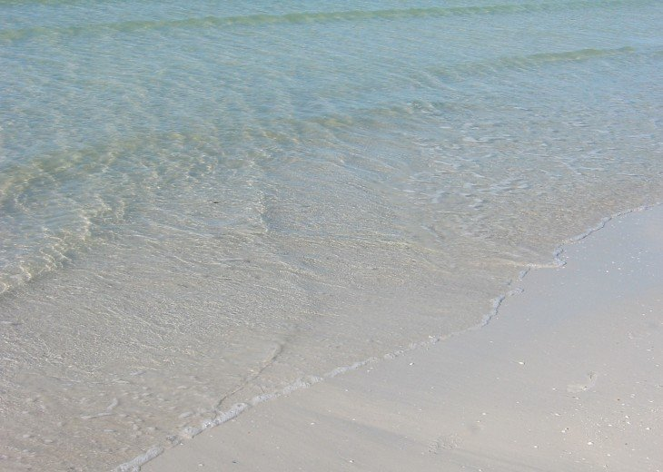 Crystal clear water with soft white sand