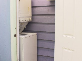 Your private washer and dryer and additional fridge/freezer in cottage.