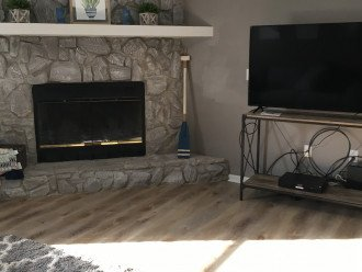 large tvs in each living area as well as master bedroom