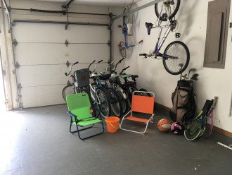 bikes and sporting equipment for your use