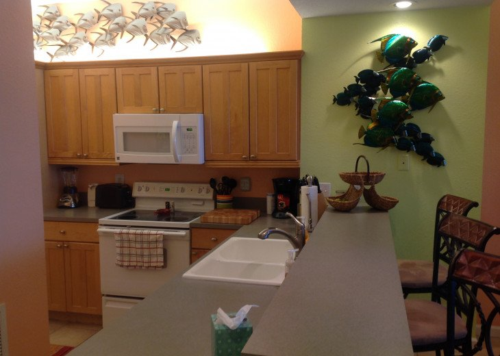 Kitchen and serving counter