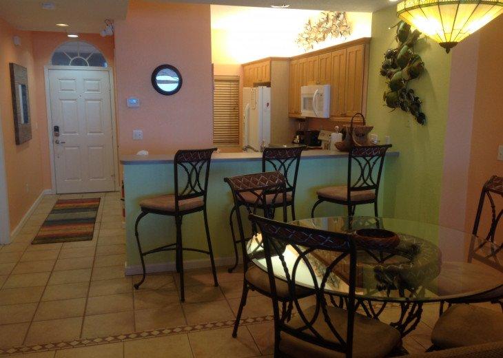 Dinning area and front door hallway
