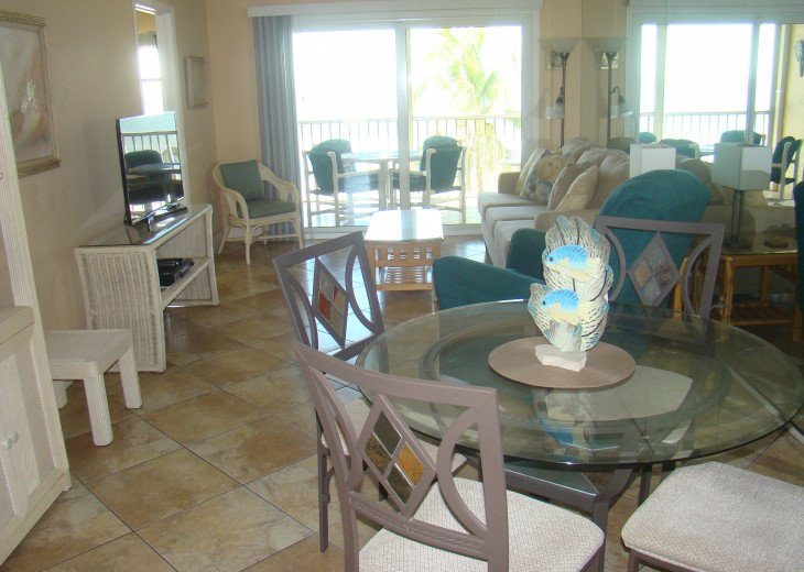 Excellent view of the water from the lanai, living room, dining area and kitchen