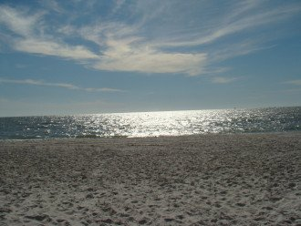 We never get tired of the beautiful sun shimmering on the Gulf of Mexico.