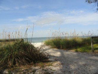 Entrance to the beach at Delnor Wiggins Park