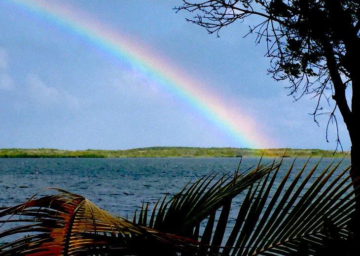 rainbow over Largo Sound