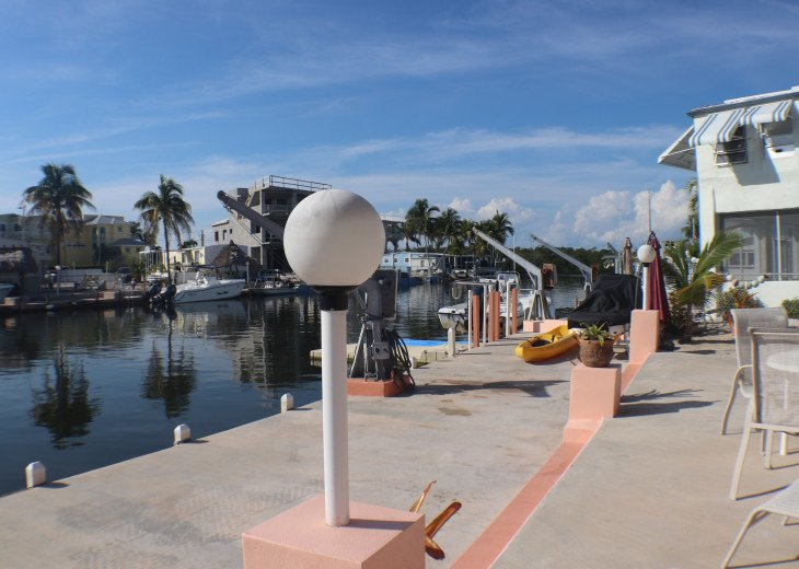 Property is on one of the widest canals in the community
