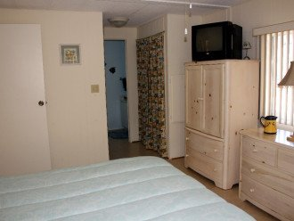 Spacious Master bedroom with plenty of closet space an adjoining bathroom